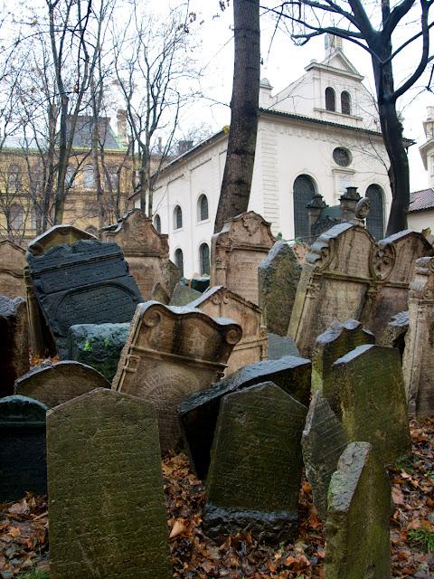 El Cementerio Judio y la Sinagoga en Praga