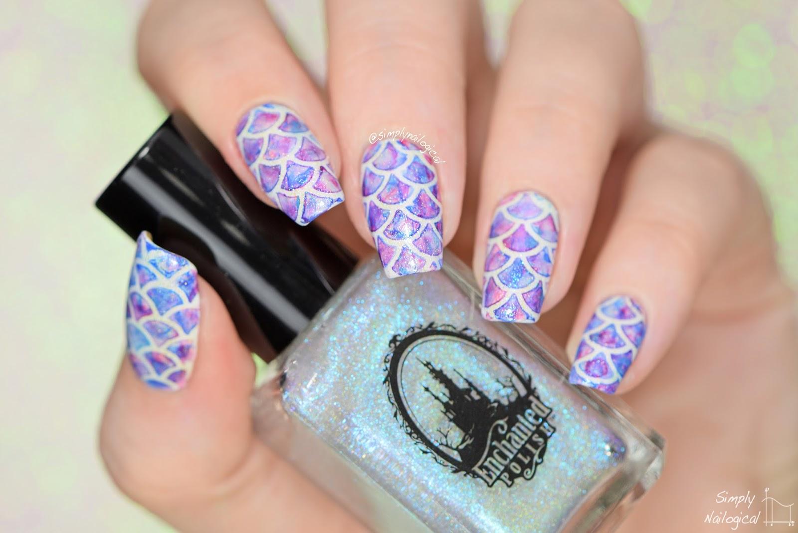 Simply Nailogical Watercolour Mermaid Nails