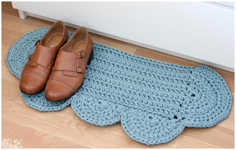alfombra de trapillo con forma de nube