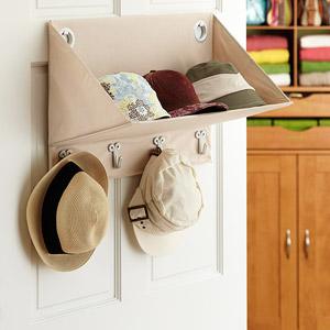 Dondehogar accesorios para organizar el vestidor - Percheros para sombreros ...