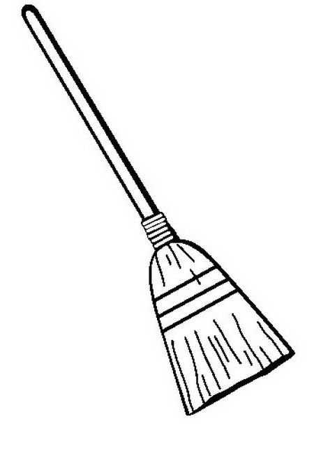 Broom to color and paint | COLOR AREA Vacuum Coloring Pages