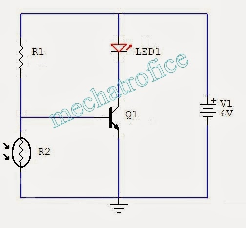 Street Light Using Ldr And Transistor: Automatic Light Controlled Switch Circuit