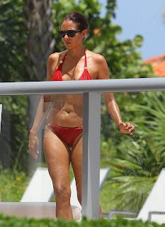 Olga Kurylenko shows off her flawless bikini body at a Miami pool