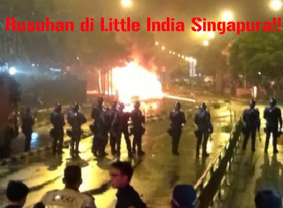 Gambar Dan Video Rusuhan di Little India Singapura