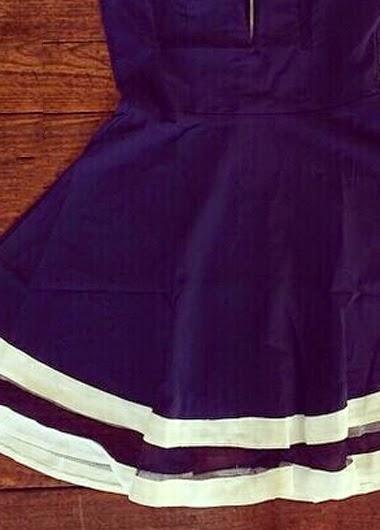 Vestido Casual Escote Corazon, Sin Mangas, Falda A con Doble Capa