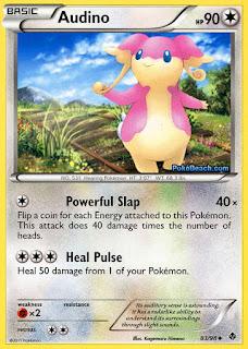 Audino Emerging Powers Pokemon Card