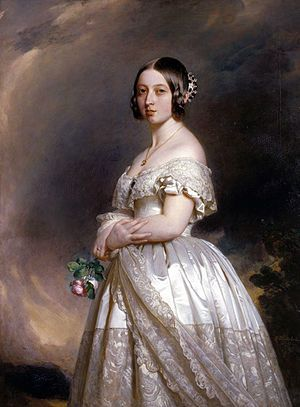 Queen Victoria in her wedding dress by Winterhalter 1842