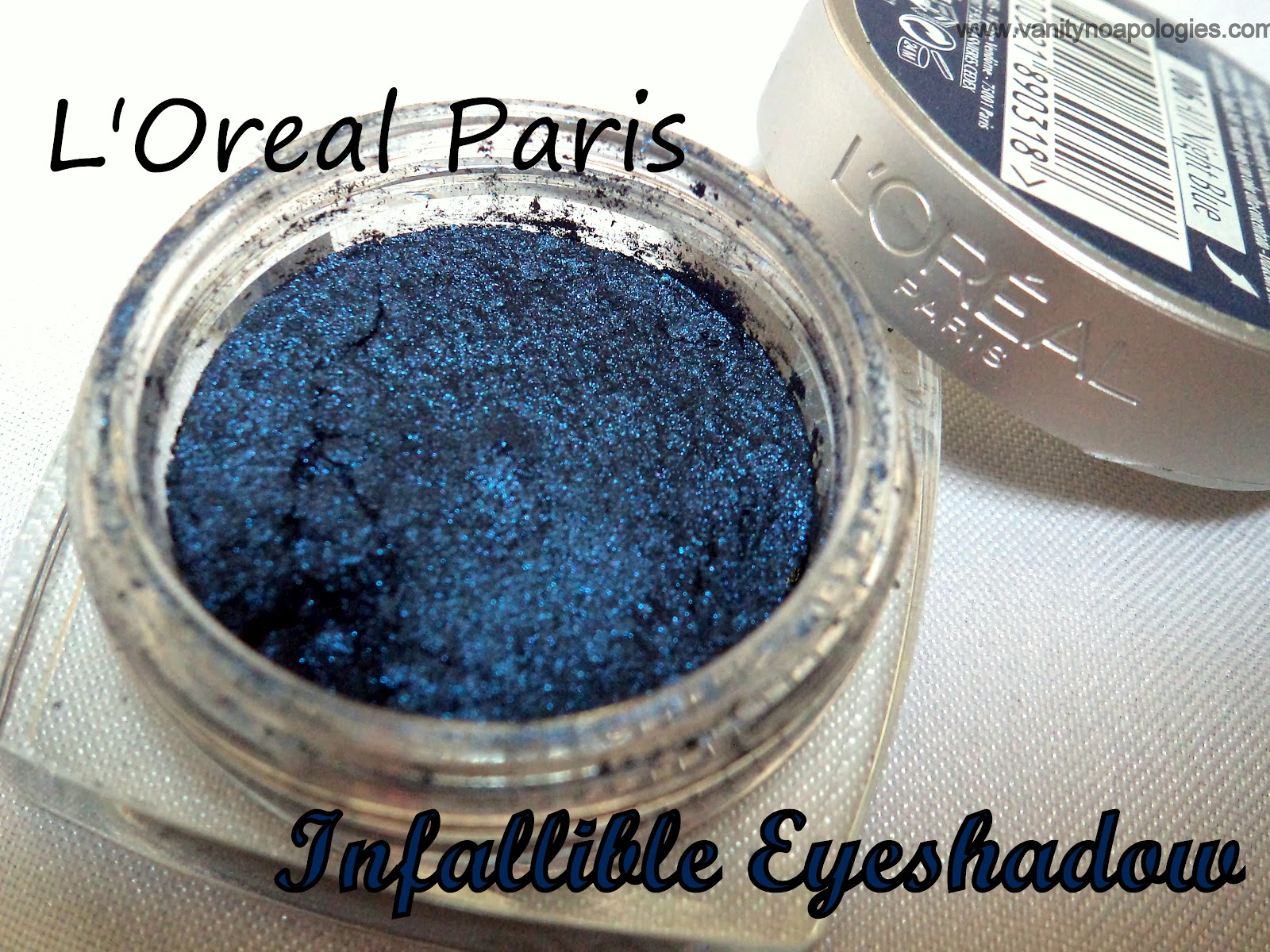 Loreal Paris Infallible All Night Blue Eyeshadow Review Swatches Eotd