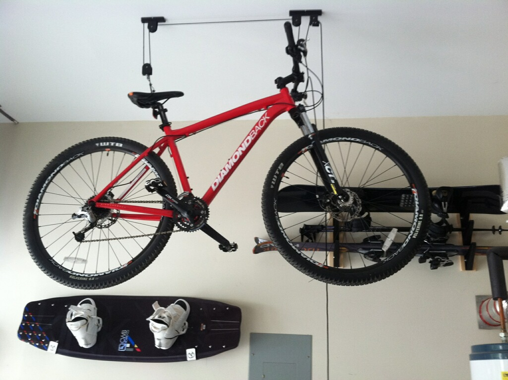 The Ceiling Bike Rack Hoist Cannot Be Any Simpler For Storage Get Your Up And Out Of Way In Garage To 12 Feet But Still Easily