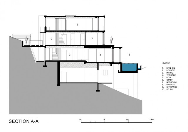 Section drawing of the modern house