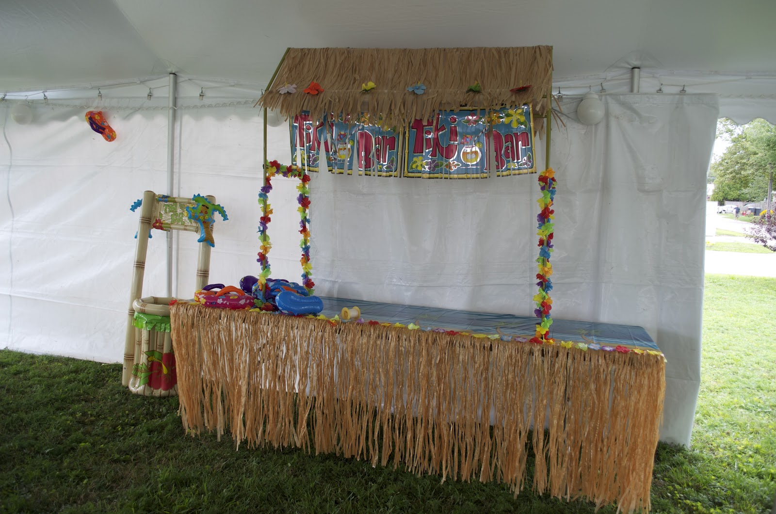 ... Mornings Were Utilized For Shopping, Nights For Food Preparation. On  Monday Night, We Put Together The Straws, Lanterns And The Table Top Tiki  Bar.