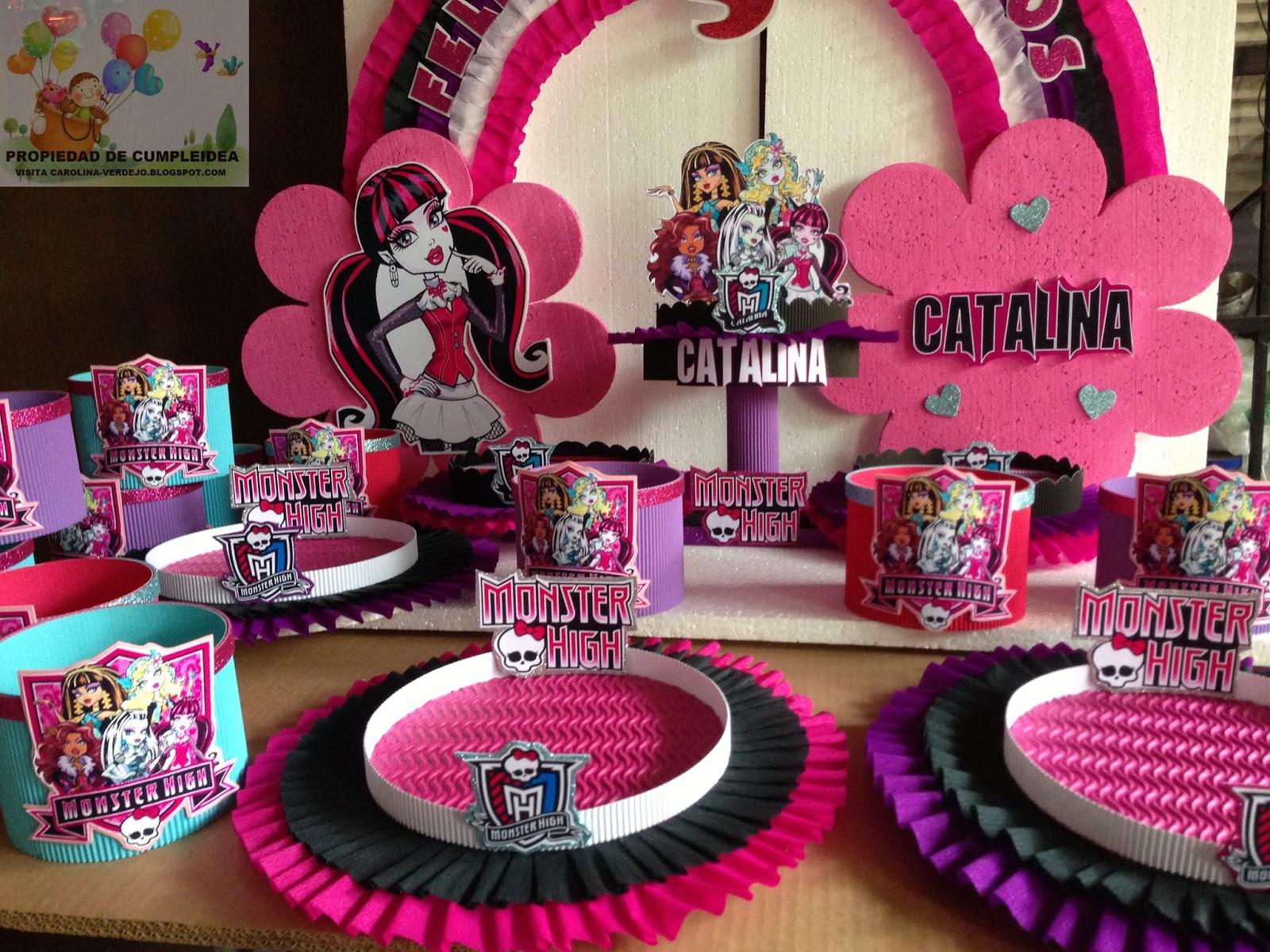 Decoraciones infantiles monster high - Decoracion de mesa de cumpleanos infantil ...