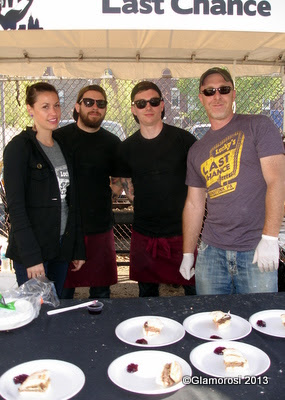 People's Choice Winners Lucky's Last Chance with their PB & Bacon Burgers, Philly Burger Brawl - Photo by Glamorosi