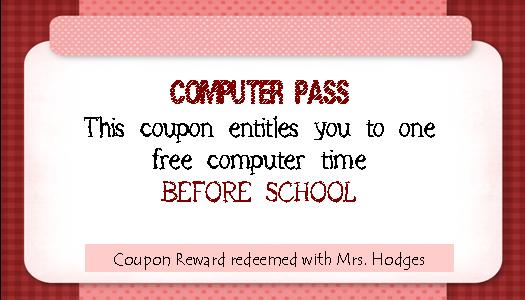 School Pass Template Free rewards for students and