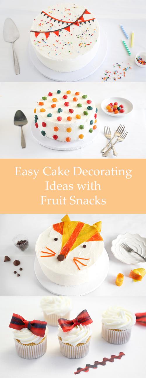 Cake Decorating Ideas Using Strawberries : 5 Easy Cake Decorating Ideas with Fruit Snacks Sprinkle ...