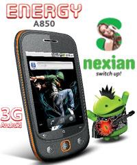 S Nexian Energy A850 Spesifikasi dan Harga