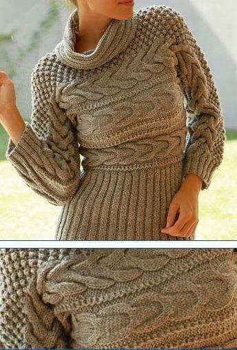 damski sweter na drutach