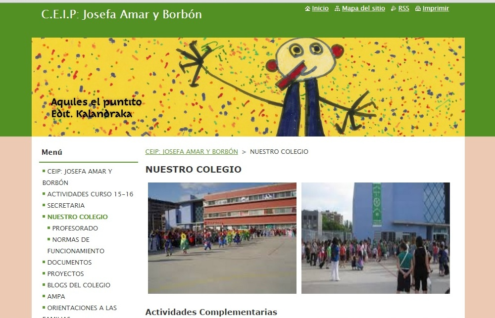 WEB DEL COLEGIO JOSEFA AMAR Y BORBÓN