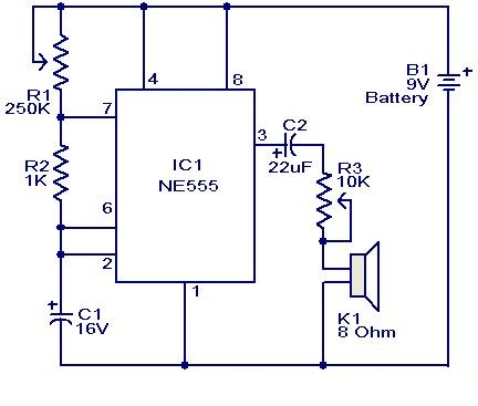Metronome Generator using NE555
