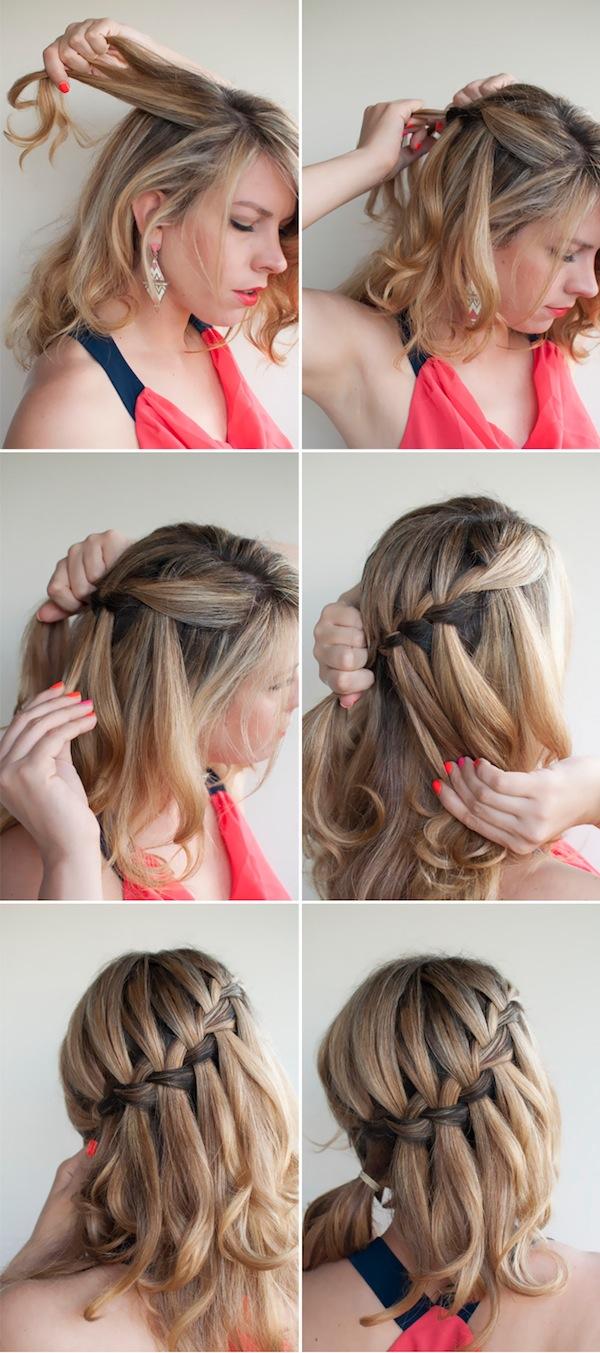 Fashion Water Fall Braid Hair Style