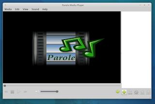 parole multimedia player Xubuntu