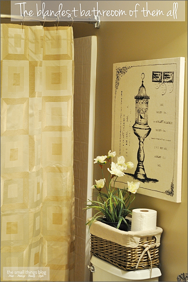 The Small Things Blog: The Bland Bathroom Makeover Part II
