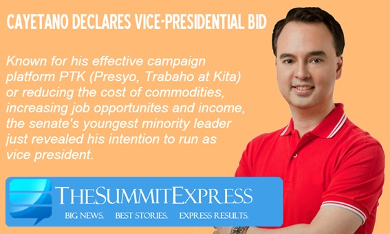 Cayetano for vice president