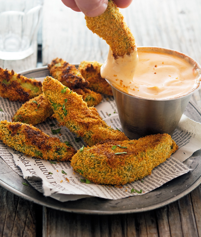 Coconut Crusted Baked Avocado Fries