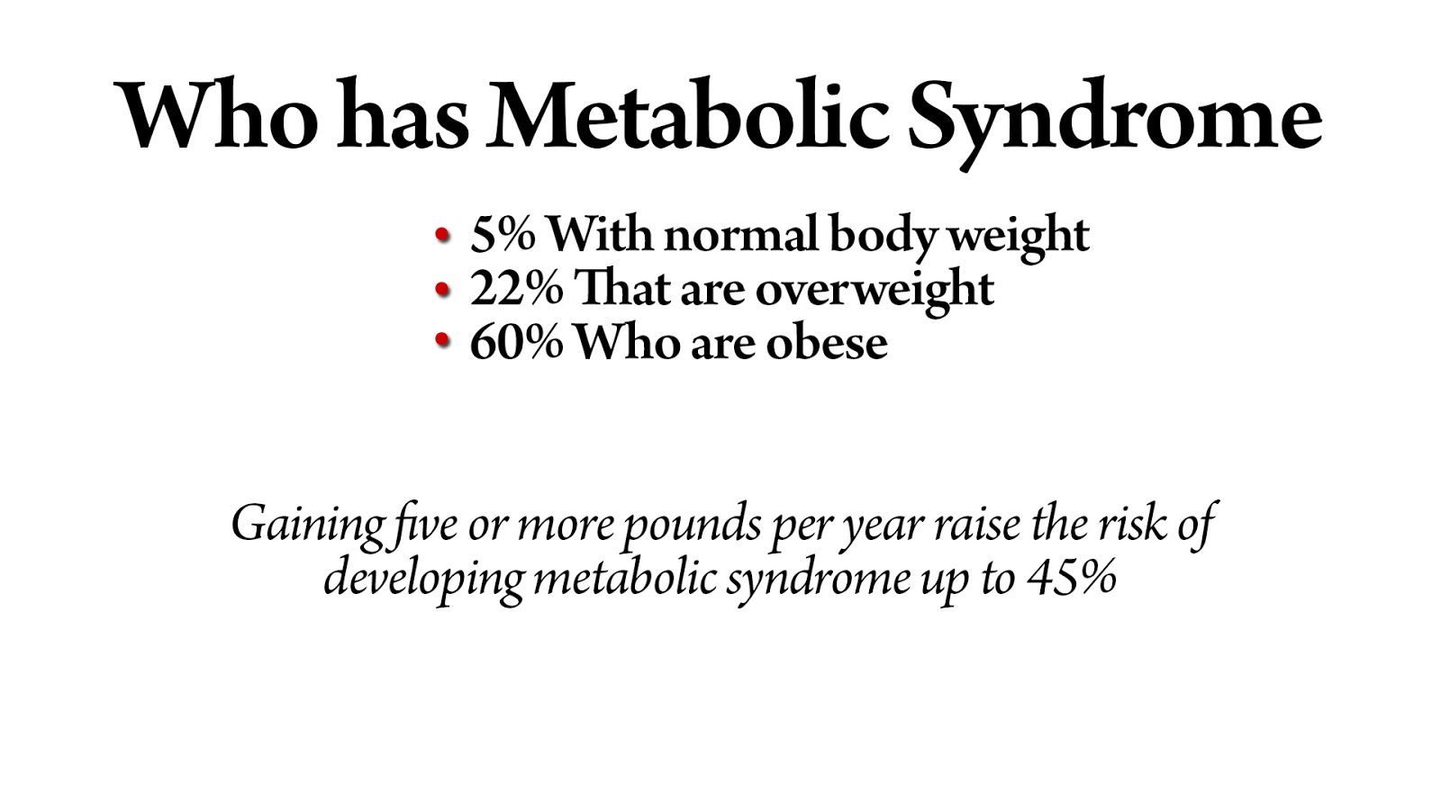 Who has Metabolic Syndrome