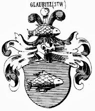 tarcza herbowa von Glaubitz (zn. karp)