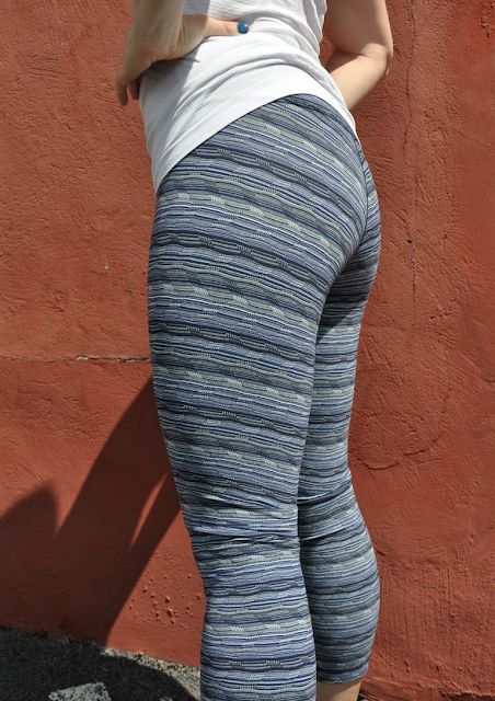Space Dye Twist Sapphire Wunder Under Pants