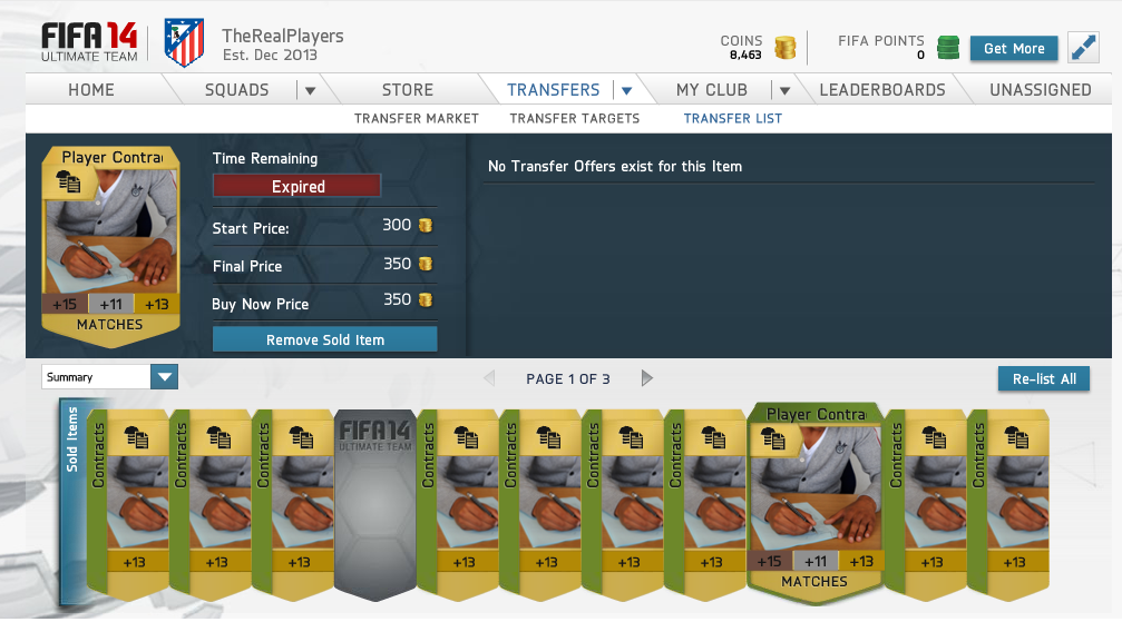 fut how to keep contract