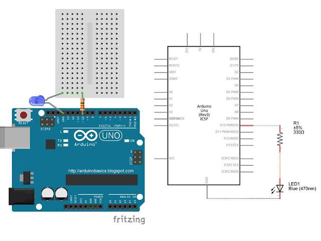 Arduino basics send hex values to
