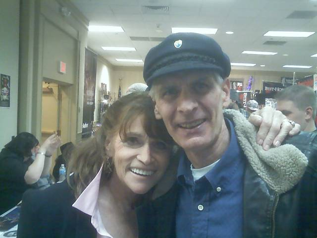 Dad with Lois Lane herself, Margot Kidder