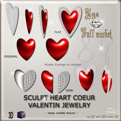 SCULPT HEART COEUR ST VALENTIN