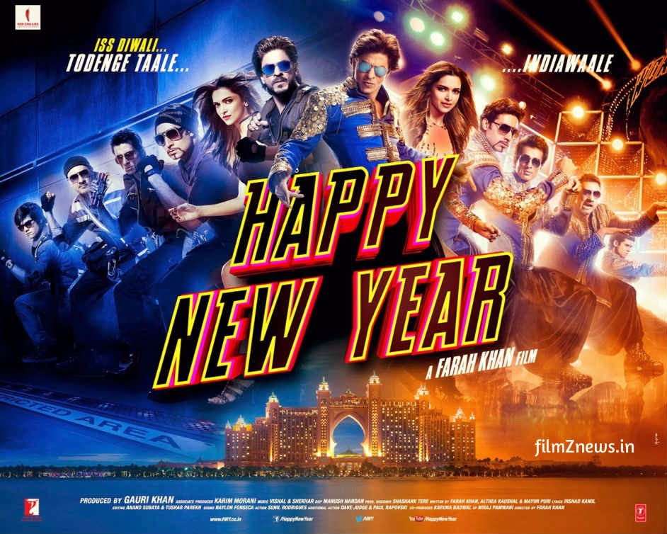 Happy New Year (2014) Movie Official Poster