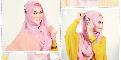 Model Cara Memakai Jilbab Hijab Fashion Segi Empat TerbaruTampil Memikat