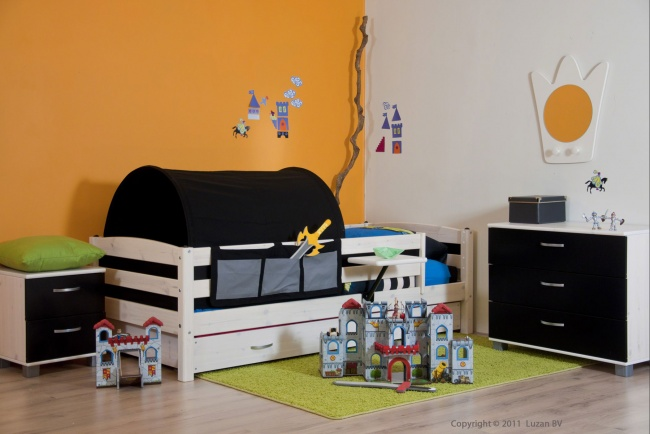Slaapkamer Delen Met Zus : Kidsgigant.nl: ridderkamer voor jongens