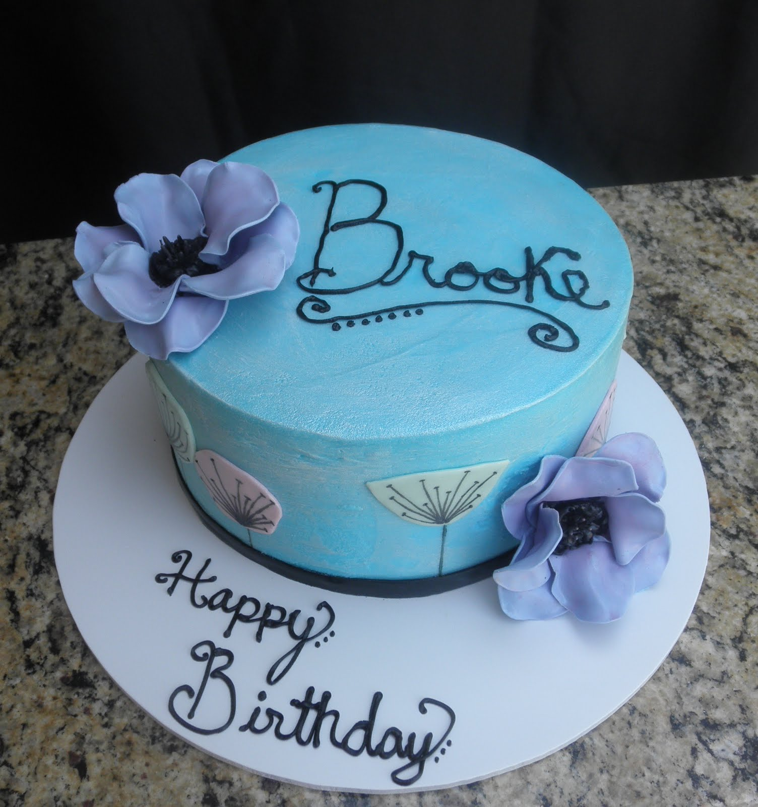 Sweet Ts Cake Design Brookes Anemone Pastel Flower 15th Birthday Cake