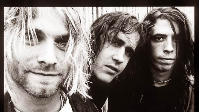 Nirvana Kurt Cobain Dave Grohl Krist Novoselic 1991 1992