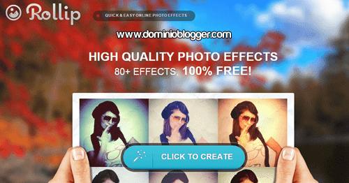 Efectos y filtros para fotos online y gratis con Rollip