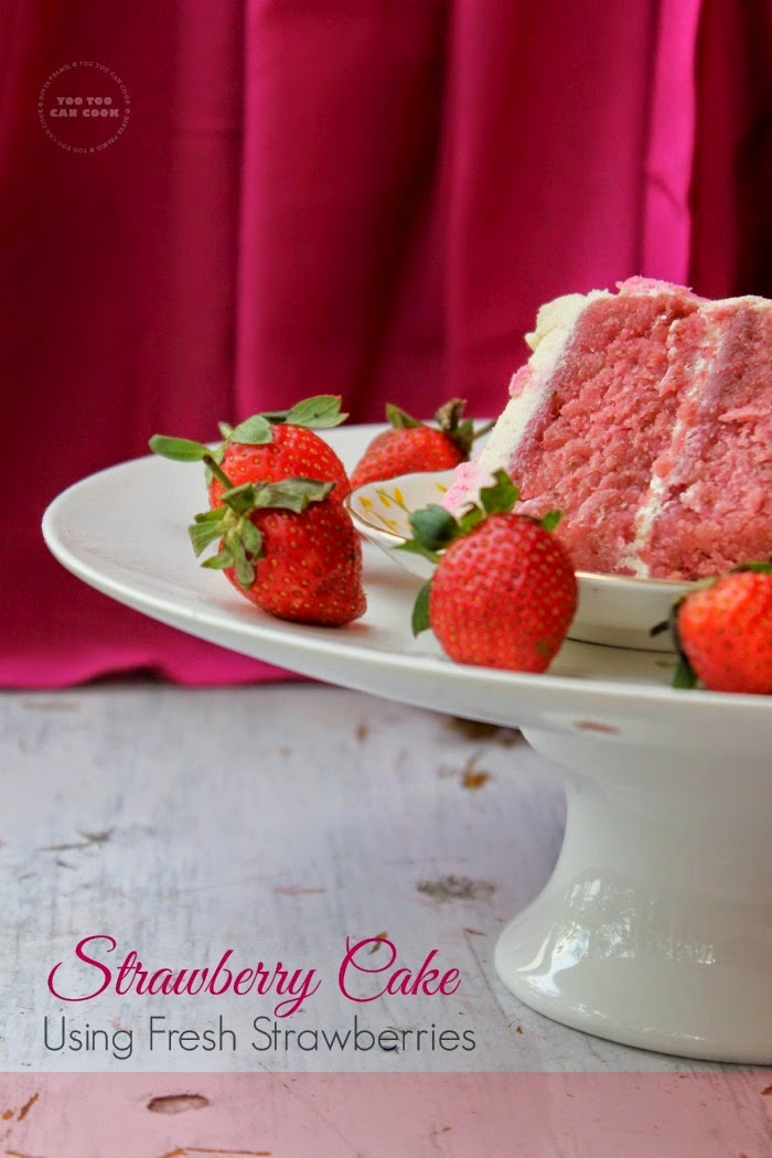 how to make strawberry cake without oven