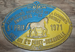 French horse show plaque