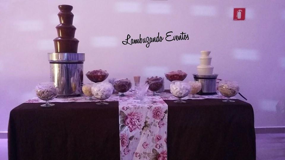 Lambuzando Eventos - Cascatas de Chocolate e Coquetel - SP