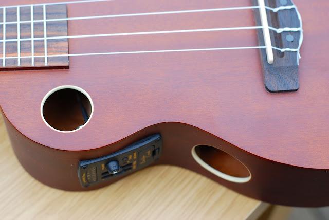 Riptide EUC-5NS concert ukulele sound holes