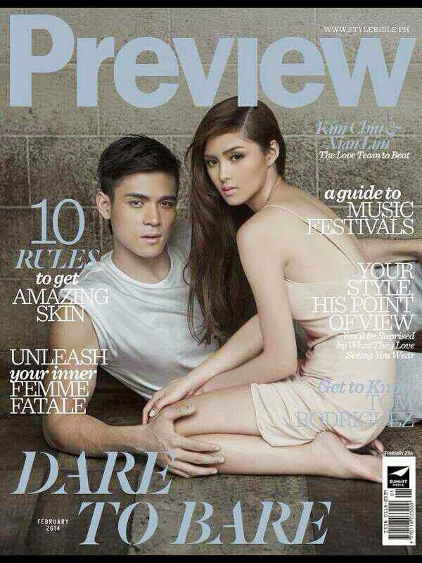 Kim Chiu and Xian Lim dare to bare in Preview cover