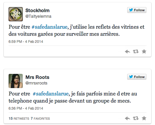 Témoignages #Safedanslarue sur Twitter