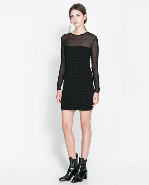 transparan siyah gece elbisesi kısa