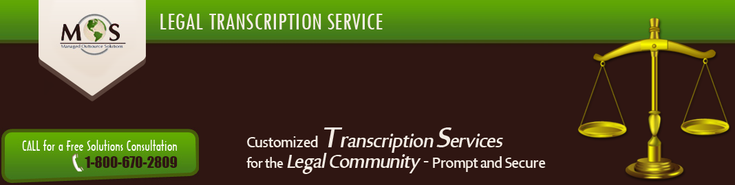 Legal Transcription Service