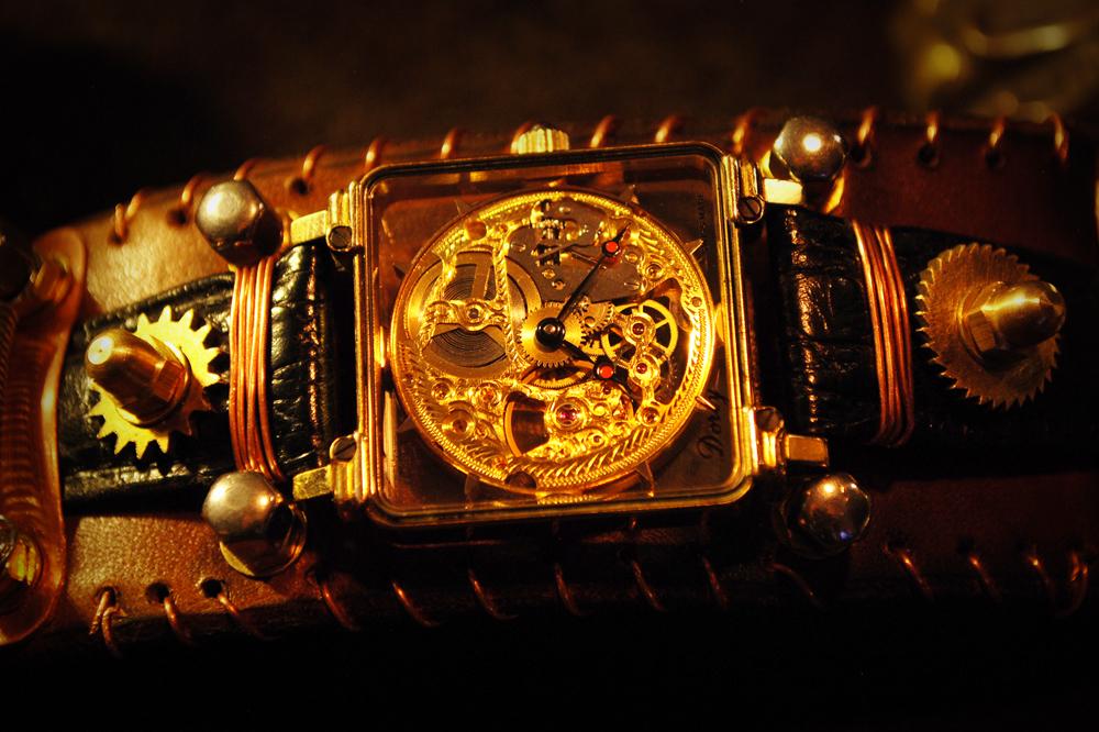 Steampunk wristwatch - Armbanduhr